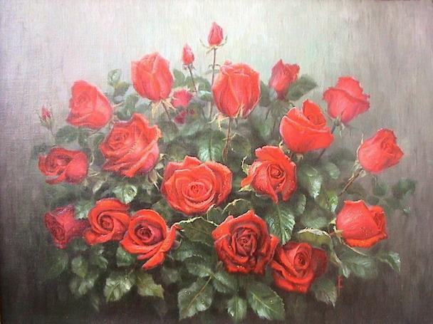 Жуков Алексей. Красные розы
