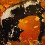 Осенний кот с мартовским настроением. Чижова Виктория