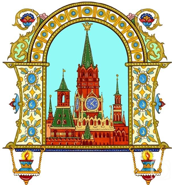 Рисунки детские кремль