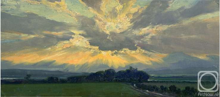 небо живопись: