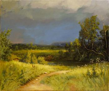 "a copy of the picture Shishkin II ""Before the Storm."". Marchenko Jana"