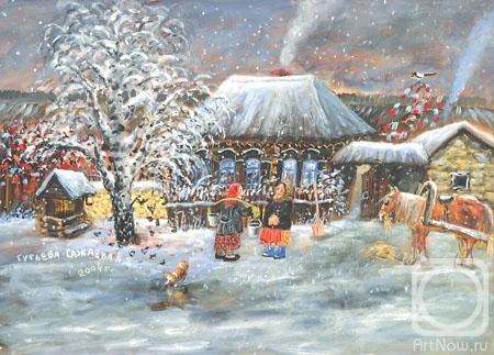 Гурьева-Сажаева Александра. А вечером пошел снег