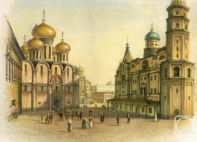 Panin Sergey. The Sobornaya square of Moscow Kremlin