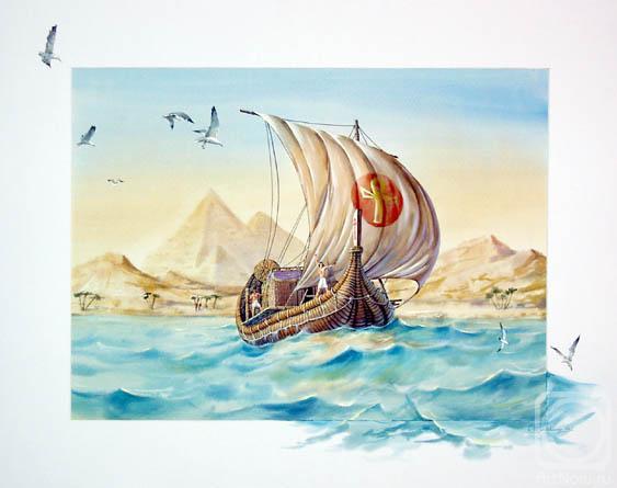 папирусная лодка в древнем египте