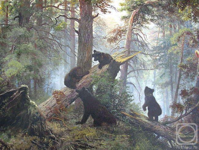 Утро в сосновом лесу.  Шишкин.  Куликов Владимир.