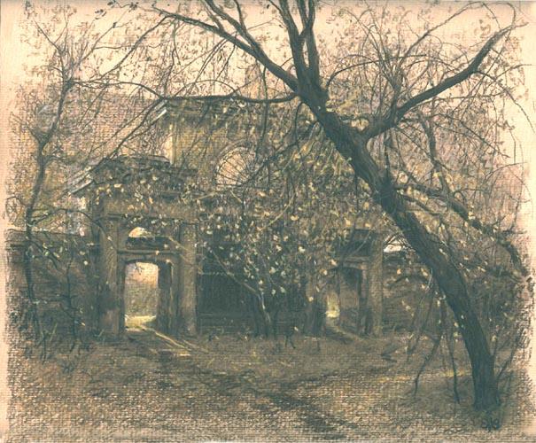 Ефремов Алексей. Весна в старом дворе
