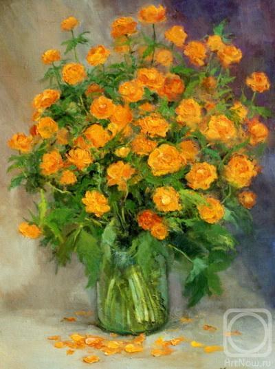 Цветы жарки сибирские