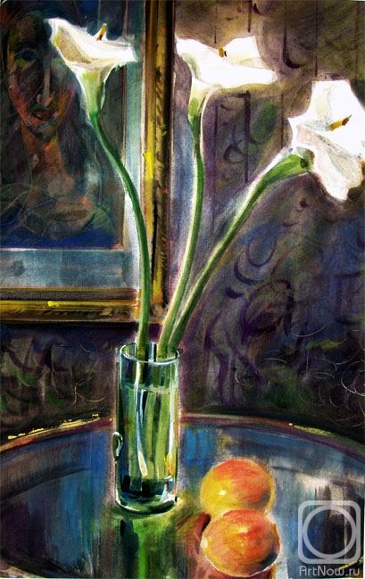 Chistyakov Yuri. Still life with cala lily flowers