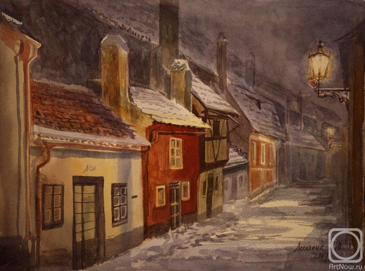 Злата Улочка рисунок Прага, Чехия.