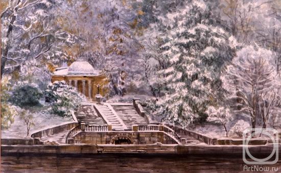 Вспомнились строки из старой песни, конца 80-х... .  Зимний сад, зимний сад, белым пламенем объят...