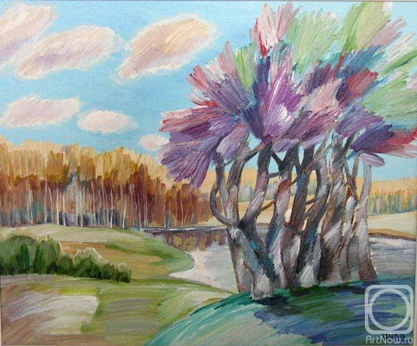 Другие работы раздела: Живопись.  Категория.  Картина Лиловые дерева.
