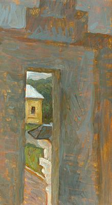 New Jerusalem Cloister. View through the Loop-hole. Yudaev-Racei Yuri