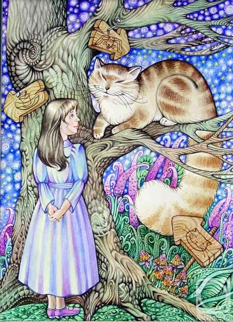 """Иллюстрации к сказке  """"Алиса в стране чудес """" Льюиса Кэрролла. murka7.  Цитата сообщения."""