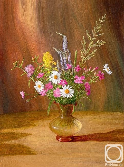 Картины художника цветы полевые