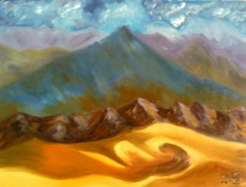 Sand-dunes and Mountains. Lukaneva Larissa