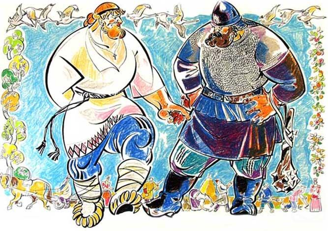 Картинки о былине вольга и микула селянинович