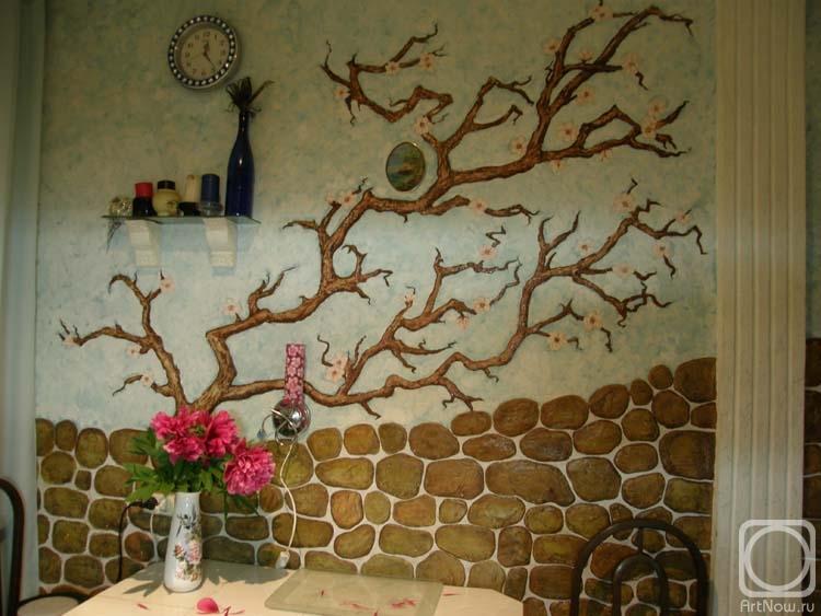 Ремонт кухни своими руками стены фото