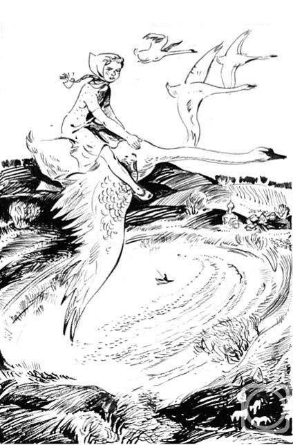 Иллюстрации к сказке дикие лебеди карандашом