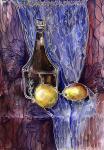 Бутыль и неопознанные фрукты
