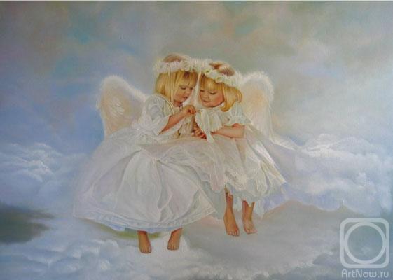 Живопись маслом с ангелами
