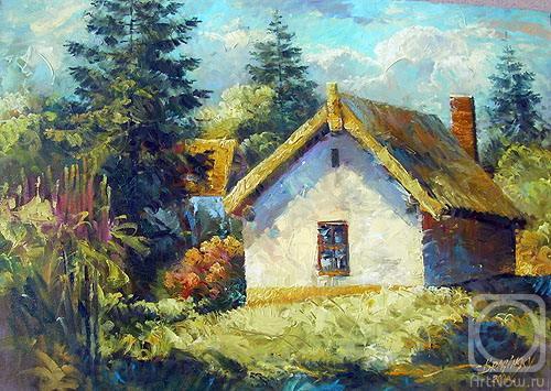 Картины художника домик в деревне