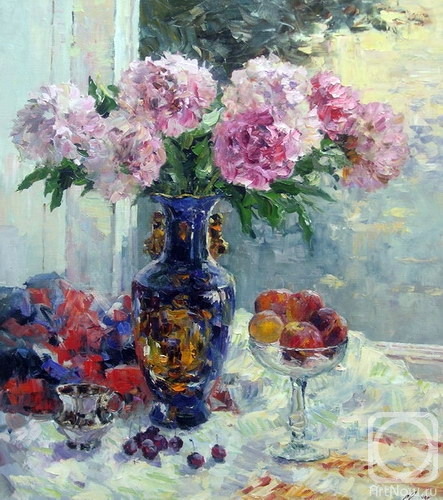 Malykh Evgeny. The bouquet of the peonies