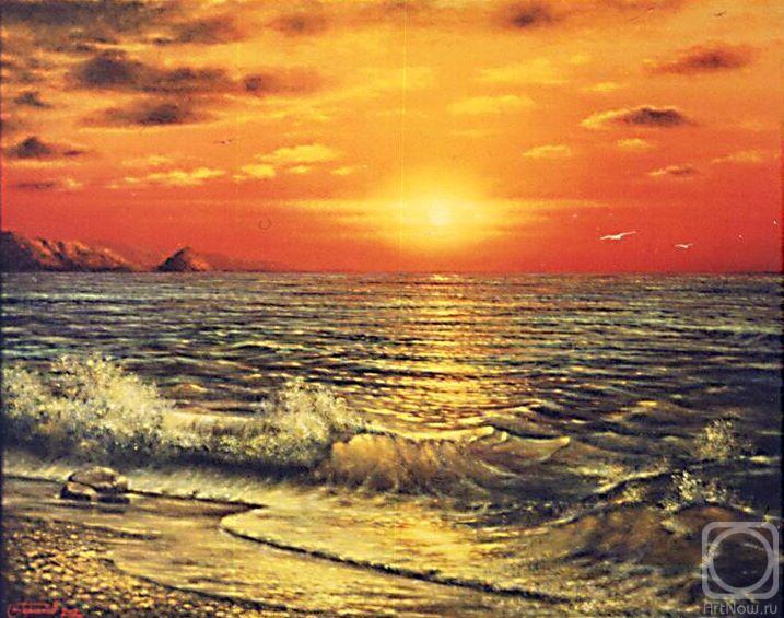 Картины художника огненный закат