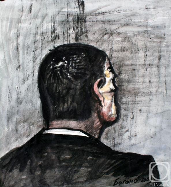 Мужской портрет со спины картины