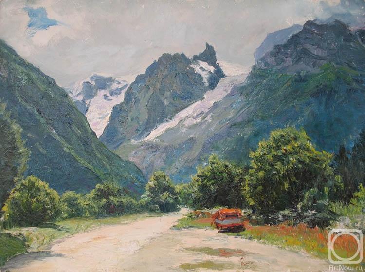 кавказские горы с моря картина