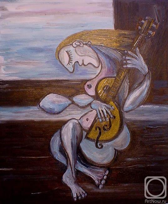 1. Евдокимов Сергей.  Обнажённая с музыкальным инструментом.  2. И лучше женщина видна, когда она обнажена.