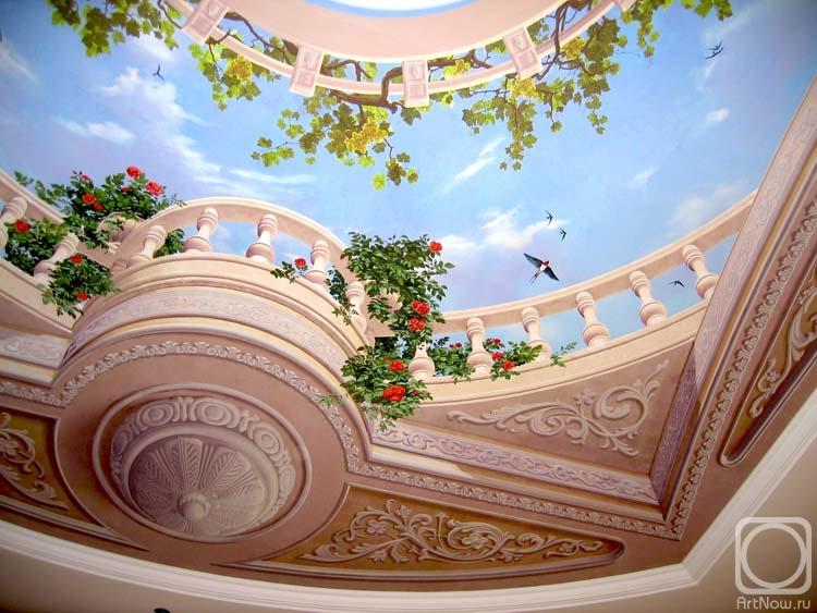 Роспись потолков фото