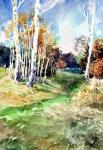 Chistyakov Yuri. The autumn wood, Zaitsevo 2001