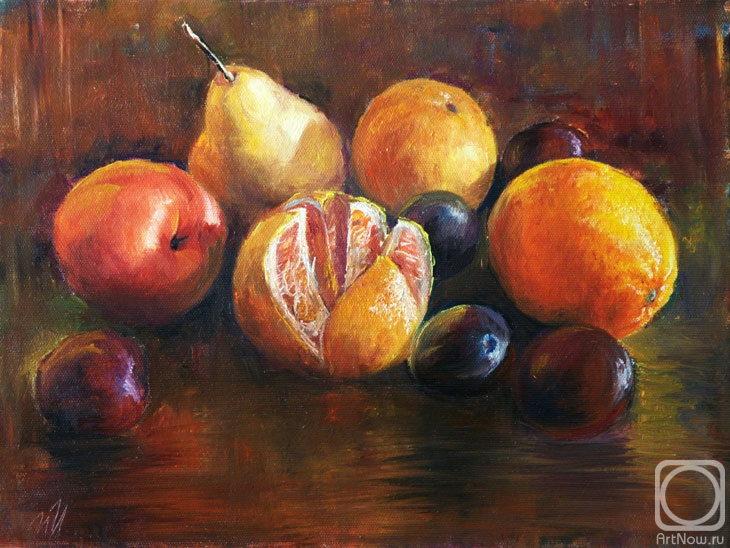 живопись фрукты: