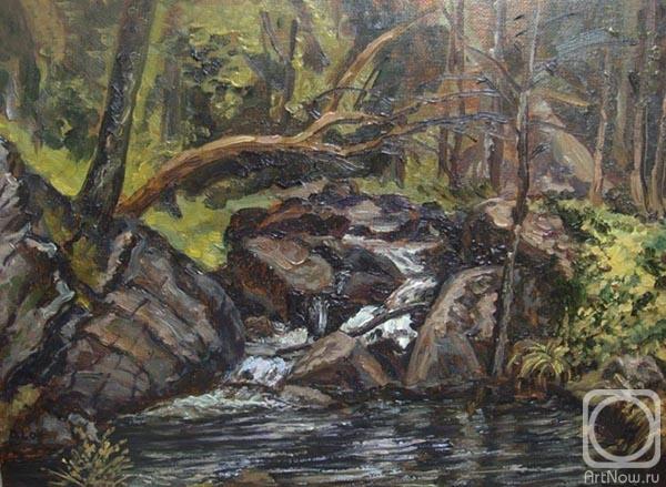 Лазарев дмитрий ручей в лесу этюд