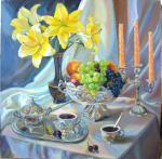 Still life with yellow lilies. Chernysheva Marina