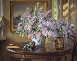 Still life with lilac. Loukianov Victor