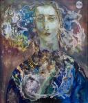 Помелова Иннеса. Женский портрет на фоне Луны