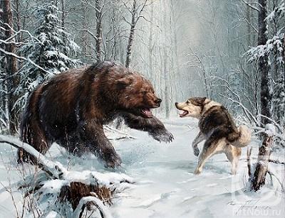 Охота на медведя. Картины художника ...: artnow.ru/ru/gallery/3/5319/picture/0/306798.html