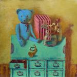 """Румак Светлана. натюрморт с голубым медведем (из серии  """"натюрморты со..."""