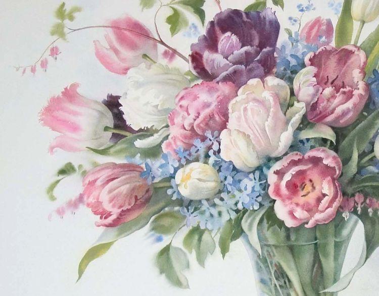Базанова Елена. Тюльпаны. (Фрагмент)