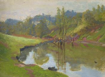 Sketch. A Little Pond. Chernov Denis