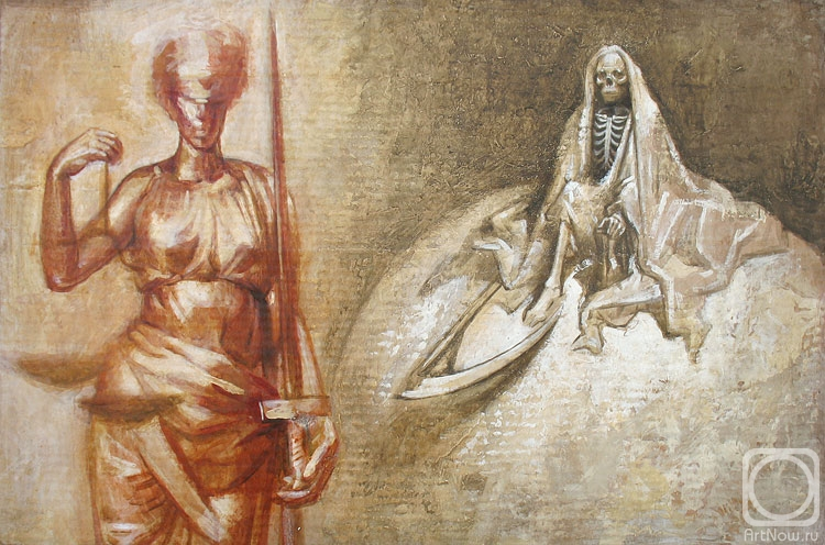 Yudaev-Racei Yuri. Allegory of Justice (esquisse II)