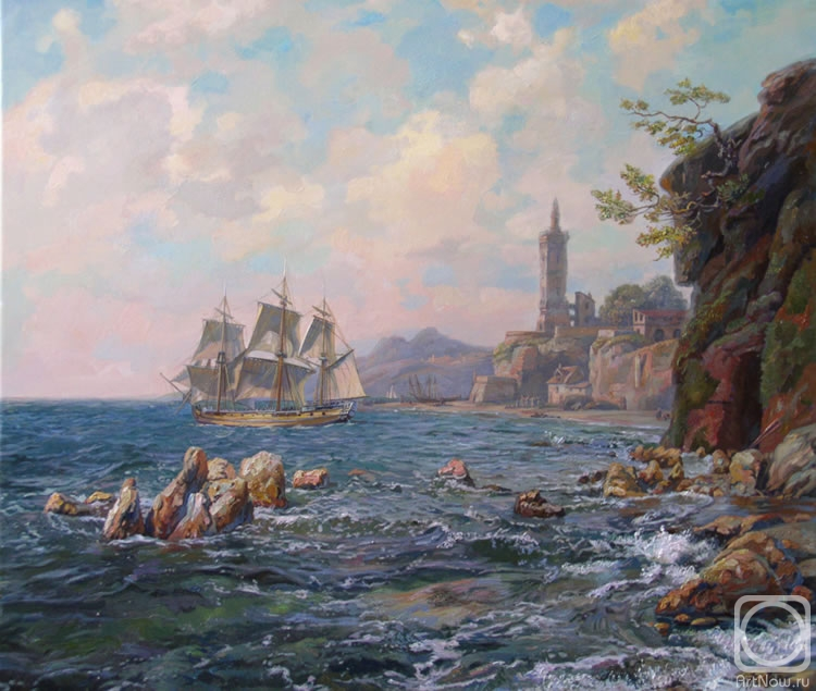 Panov Eduard. Shore of the Mediterranian sea