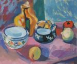 Посуда и фрукты. Жукова Юлия