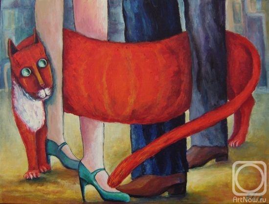 вязанный котик спицами.  Вяжем новогоднего Кота.