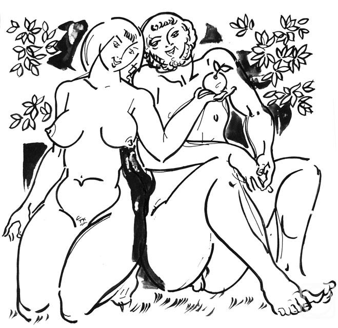 картина адам и ева: