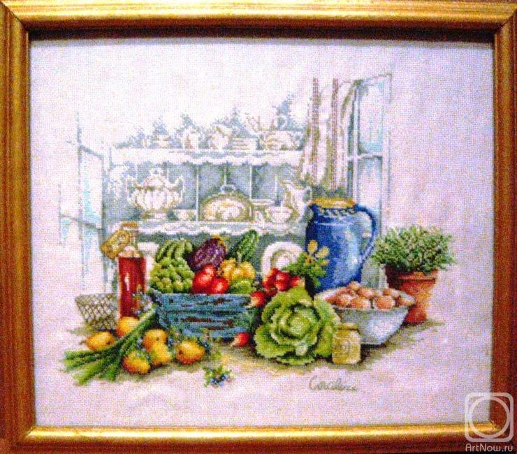 Кухонные натюрморты вышивка