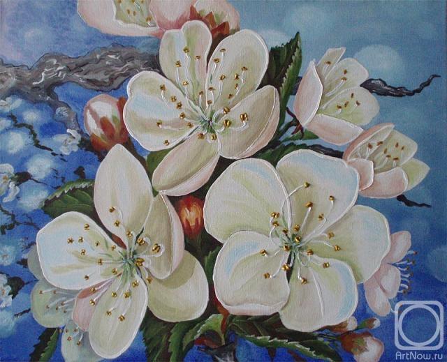 Вчерашний дождь.  Часть 3 - Цветущая яблоня в живописи Часть 4. Две весны.  Грозы беспечной и бессонных будней.