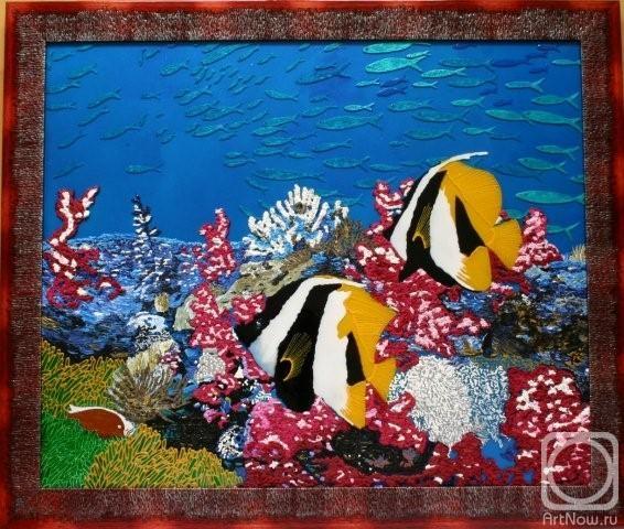 Альбом витраж подводный мир