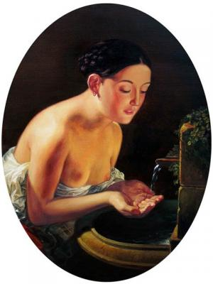 "Copy-fragment of the picture K Bryullov "" Italian morning"". Rulevskiy Sergey"